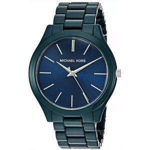 Mk authentic women Bradshaw chronograph blue watch